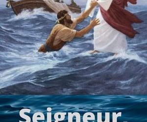 jesus christ, marcher sur l eau, and bateau image