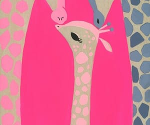 animals, pattern, and pink image