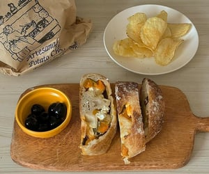 bread, brunch, and food image