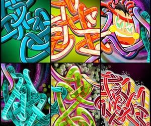 abstract, graff, and letters image