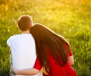 couple, lovers, and feelings image