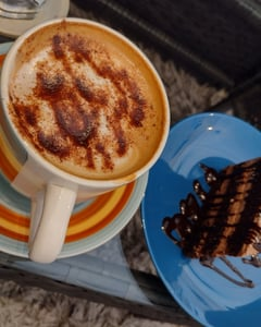 cafe, postre, and chocolate image