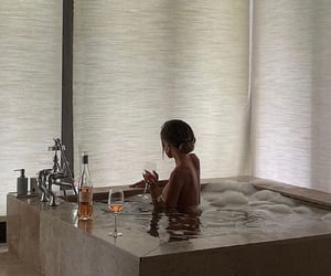 aesthetic, bath, and drinks image