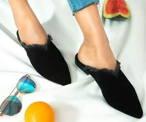 mules, black leather mules, and black mules image