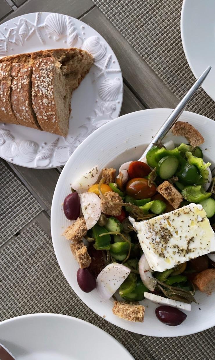 feta, food, and greek image