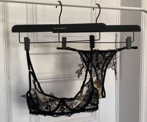 black, bra, and lace image