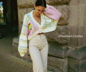 cosy, oversized cardigan, and preppy style image