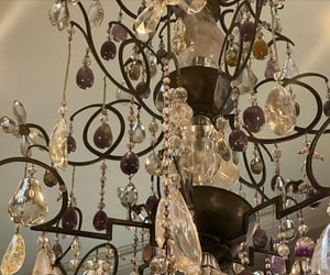 aesthetic, chandelier, and light image