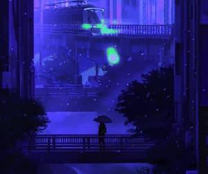 anime, gif, and snow gif image