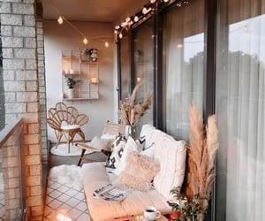 balcony, light, and decor image