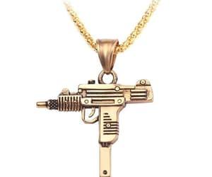 necklace, pendant, and gun shape image