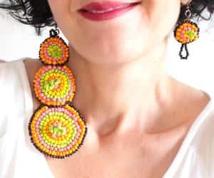etsy, beaded earrings, and tribal earrings image