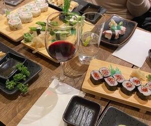 food, japanese, and sushi image
