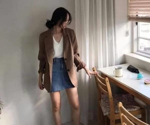blazer, casual, and converse image