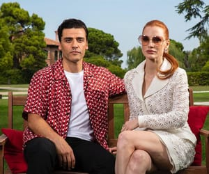 dune, oscar isaac, and jessica chastain image