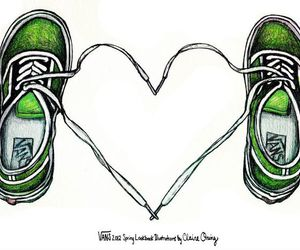vans, heart, and love image