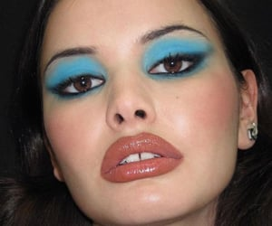 Black Eyeliner, blush, and colorful image