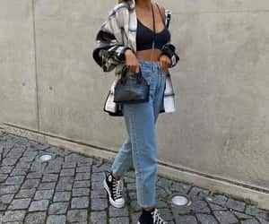 top and mom jeans image