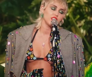 miley cyrus, plastic hearts, and goldem g string image
