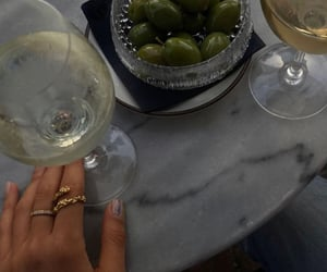 couple, dinner, and drinks image