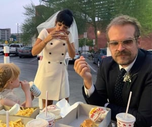 bride, date, and fast food image