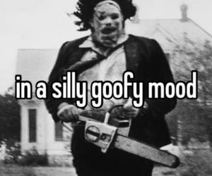 black and white, chainsaw, and funny image