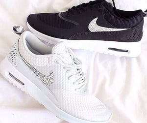 black, nike, and trend image