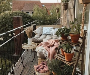 plants and balcony image