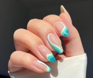 blue, nails, and beauty image