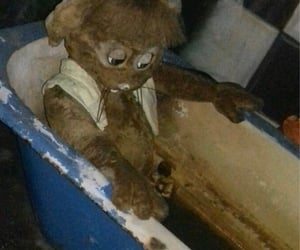 bath, weirdcore, and creepy image