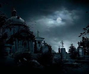 Halloween, cemetery, and graveyard image
