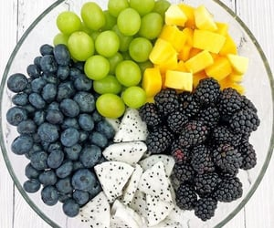 blueberry, food, and summer image
