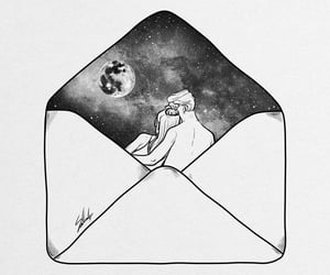 art, drawing, and Letter image