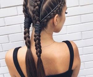 cabelo, fashion, and moda image