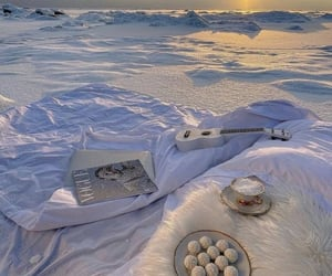 blanket, food, and ice image