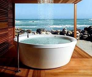 bathtub, show off, and outdoor activities image