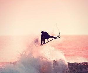 surfing, ocean waves, and ocean deep image