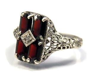 diamond ring, vintage ring, and gemstone ring image