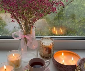 aesthetic, autumn, and candles image