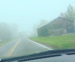 barn, drive, and house image