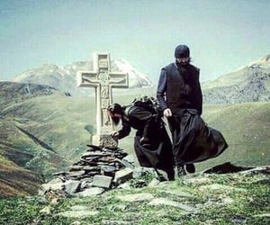 Catholic, cross, and monk image