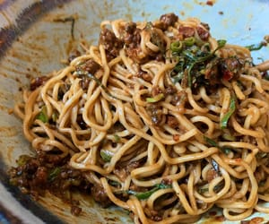 chinese food, sesame, and asian food image