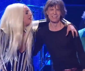 Lady gaga, mick jagger, and the rolling stones image