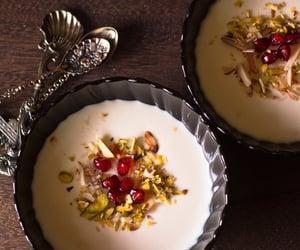 cream, turkish food, and dessert image