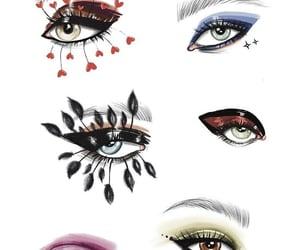 arte, dibujo, and maquillaje image