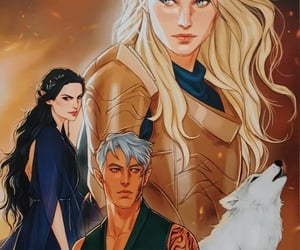 fae, throne of glass, and aedion image