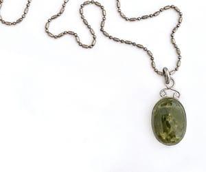 etsy, boho pendant, and italian silver chain image