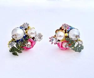 etsy, boho earrings, and statement earrings image