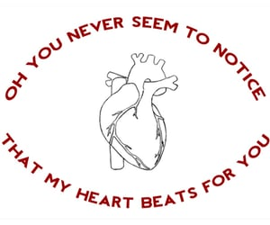 for you, my heart, and never notice image