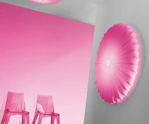 chairs, decor, and pink image